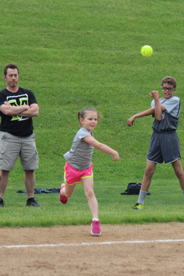 Cambria R. - U8 Softball Throw